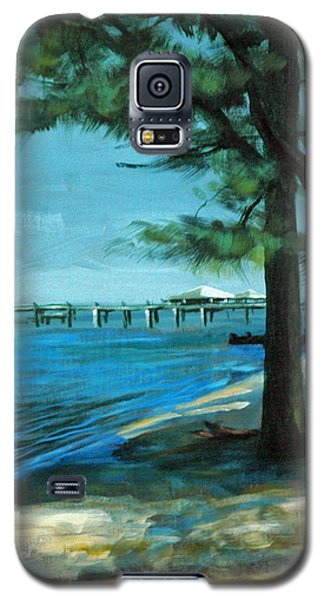 Galaxy S5 Case featuring the painting Looking For Shade by Suzanne McKee