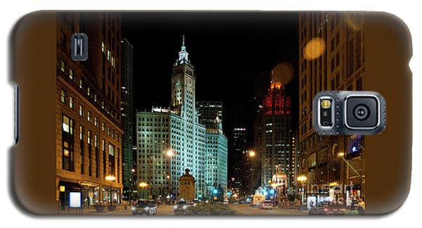 Looking North On Michigan Avenue At Wrigley Building Galaxy S5 Case