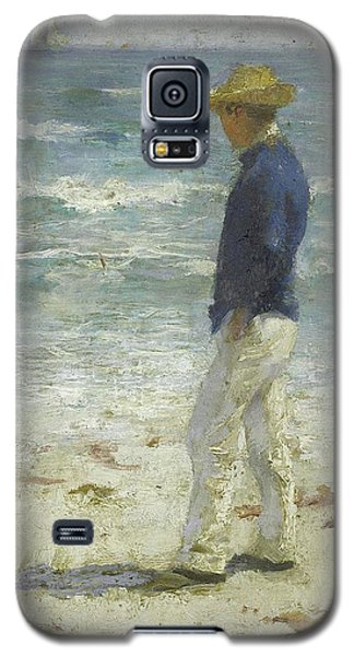 Galaxy S5 Case featuring the painting Looking Out To Sea by Henry Scott Tuke
