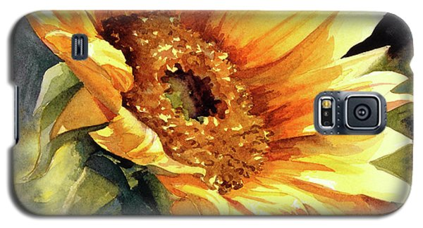 Galaxy S5 Case featuring the painting Looking To The Sun by Bonnie Rinier