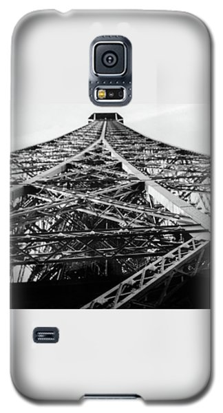 Galaxy S5 Case featuring the photograph Looking Up From The Eiffel Tower by Darlene Berger