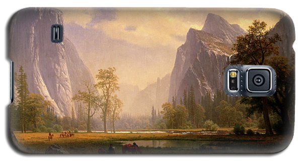 Looking Up The Yosemite Valley  Galaxy S5 Case
