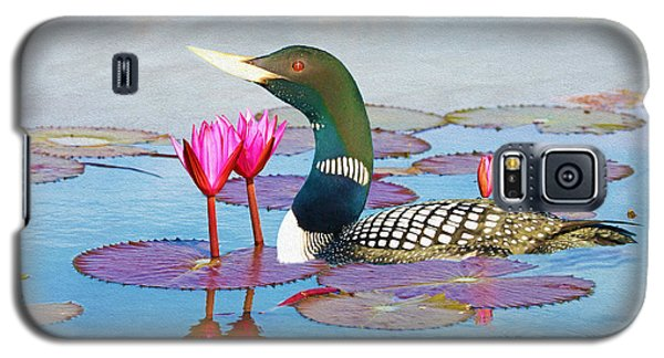 Loon Galaxy S5 Case - Loon And Lotus by Laura D Young
