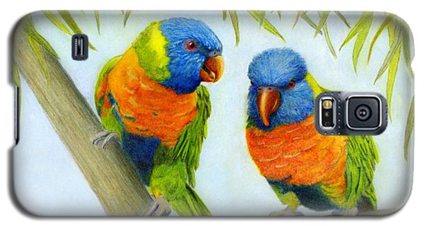 Lorikeet Pair Galaxy S5 Case