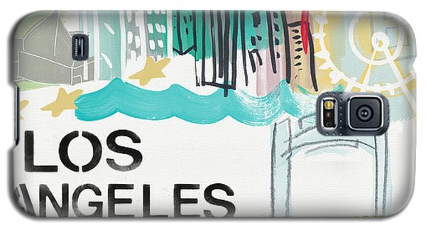 Los Angeles Cityscape- Art By Linda Woods Galaxy S5 Case by Linda Woods