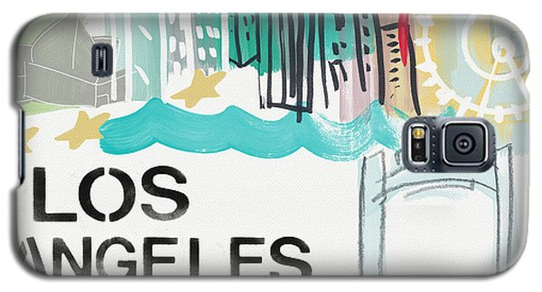 Los Angeles Cityscape- Art By Linda Woods Galaxy S5 Case
