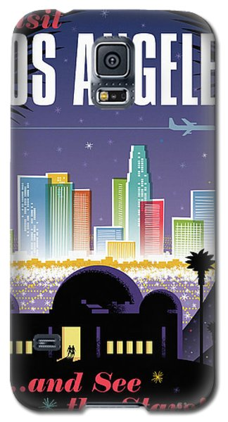Los Angeles Retro Travel Poster Galaxy S5 Case