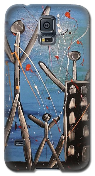 Galaxy S5 Case featuring the painting Lost Cities 13-003 by Mario Perron