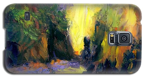 Galaxy S5 Case featuring the painting Lost Creek by Gail Kirtz