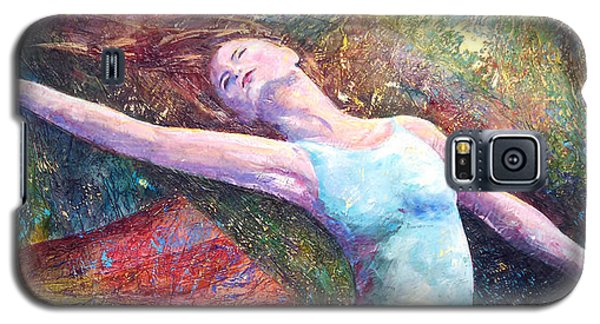 Galaxy S5 Case featuring the painting Lost In Dance  by David  Maynard
