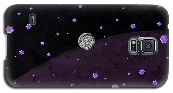 Lost In Midnight Charcoal Stars Galaxy S5 Case