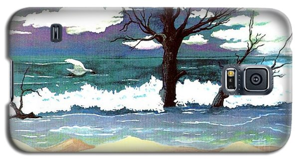 Galaxy S5 Case featuring the painting Lost Swan by Patricia Griffin Brett