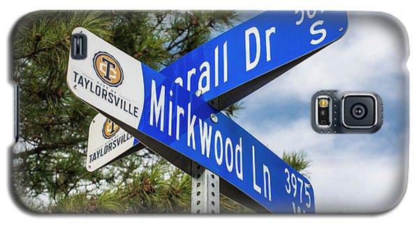 Lotr Mirkwood Street Signs Galaxy S5 Case by Gary Whitton