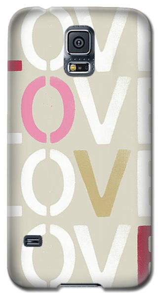 Galaxy S5 Case featuring the mixed media Lots Of Love- Art By Linda Woods by Linda Woods