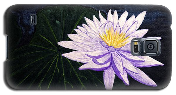 Galaxy S5 Case featuring the painting Lotus Blossom At Night by Patricia Griffin Brett