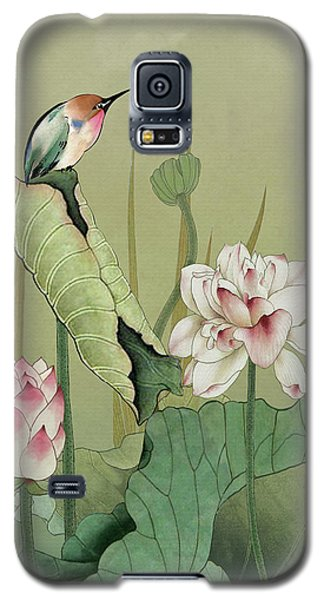 Lotus Flower And Hummingbird Galaxy S5 Case