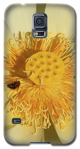 Galaxy S5 Case featuring the photograph Lotus Flower by Carolyn Dalessandro