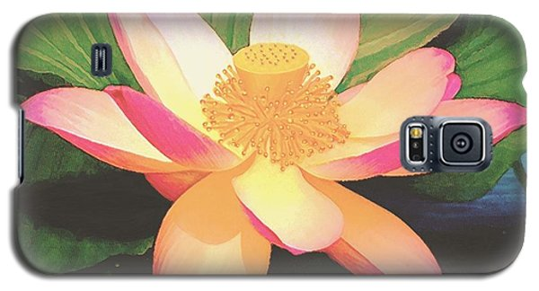 Galaxy S5 Case featuring the painting Lotus Flower by Sophia Schmierer