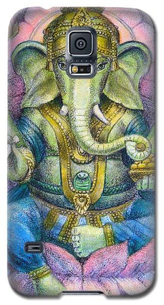 Elephant Galaxy S5 Case - Lotus Ganesha by Sue Halstenberg
