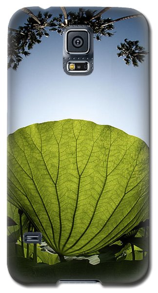 Galaxy S5 Case featuring the photograph Lotus Leaf by Harry Spitz