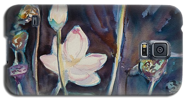 Galaxy S5 Case featuring the painting Lotus Study II by Xueling Zou