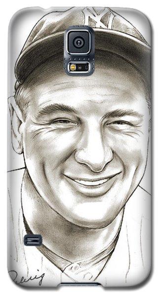 New York Yankees Galaxy S5 Case - Lou Gehrig by Greg Joens