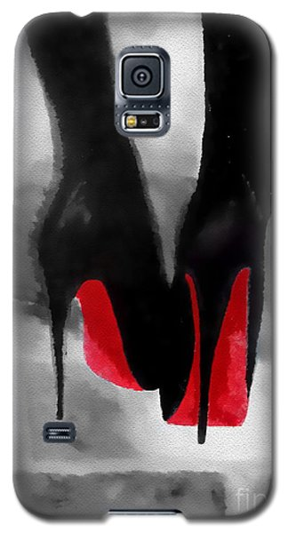 e39b6e29eff Christian Louboutin Galaxy S5 Case - Louboutin At Midnight Black And White  by My Inspiration