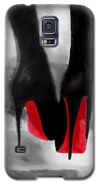 Louboutin At Midnight Black And White Galaxy S5 Case