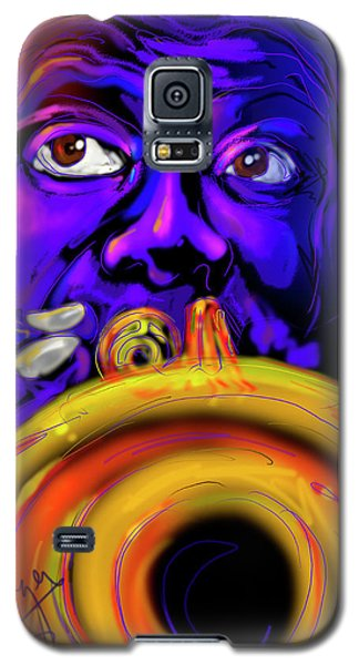 Galaxy S5 Case featuring the painting Louie by DC Langer