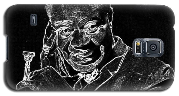 Galaxy S5 Case featuring the mixed media Louis Armstrong by Charles Shoup