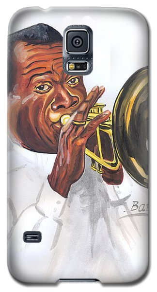 Galaxy S5 Case featuring the painting Louis Armstrong by Emmanuel Baliyanga
