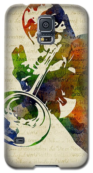 Louis Armstrong Watercolor Galaxy S5 Case by Mihaela Pater