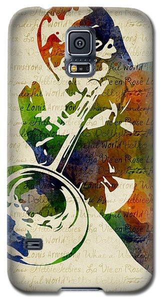Louis Armstrong Watercolor Galaxy S5 Case