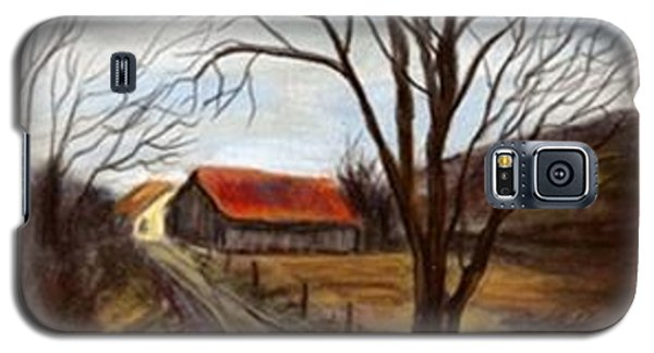 Galaxy S5 Case featuring the painting Louisa Kentucky Barn by Gail Kirtz
