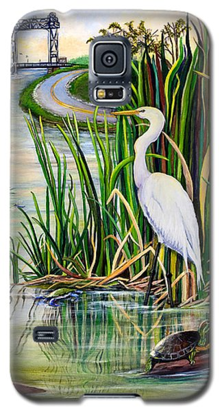 Egret Galaxy S5 Case - Louisiana Wetlands by Elaine Hodges