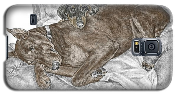 Lounge Lizards - Doberman Pinscher Puppy Print Color Tinted Galaxy S5 Case