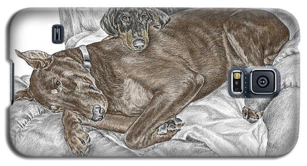 Lounge Lizards - Doberman Pinscher Puppy Print Color Tinted Galaxy S5 Case