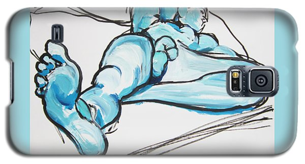 Lounging In Blue Galaxy S5 Case by Shungaboy X