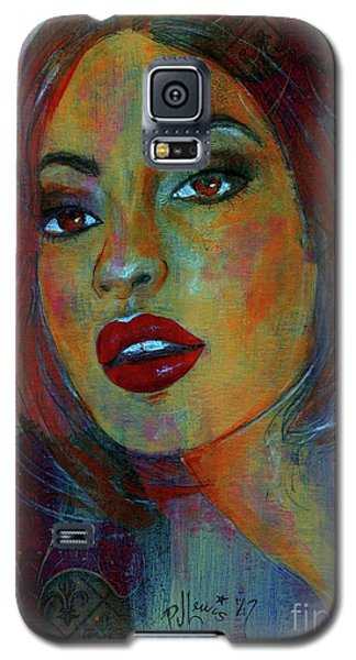 Galaxy S5 Case featuring the painting Lourdes At Twilight by P J Lewis