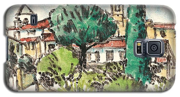 Galaxy S5 Case featuring the painting Lourmarin Provence by Martin Stankewitz
