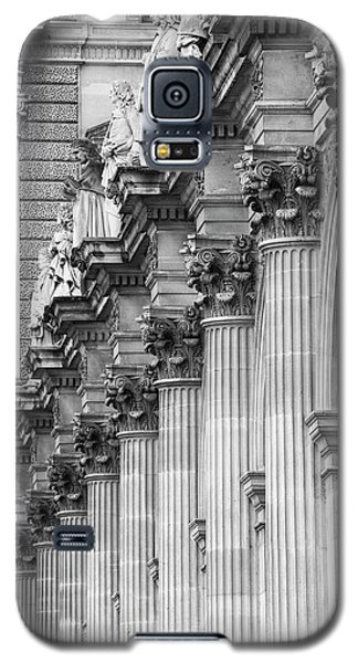 Galaxy S5 Case featuring the photograph Louvre Pillars, Paris, 2015 by Hitendra SINKAR