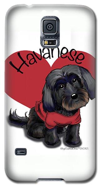 Lovable Black Havanese Galaxy S5 Case