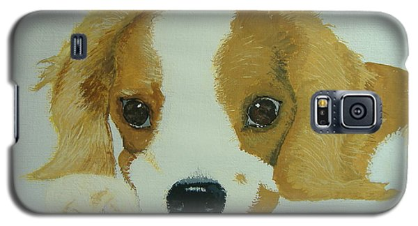 Galaxy S5 Case featuring the painting Lovable Puppy by Norm Starks