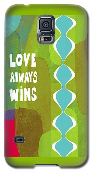 Galaxy S5 Case featuring the painting Love Always Wins by Lisa Weedn