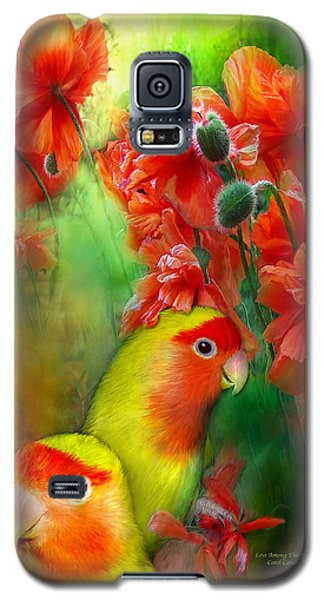 Love Among The Poppies Galaxy S5 Case by Carol Cavalaris