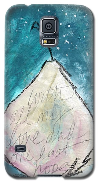 Pear Galaxy S5 Case - Love And Hope Pear- Art By Linda Woods by Linda Woods
