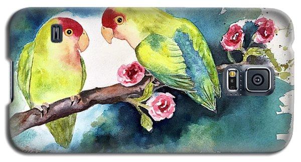Love Birds On Branch Galaxy S5 Case