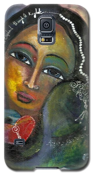 Galaxy S5 Case featuring the painting Love Can Draw An Elephant Through A Key Hole by Prerna Poojara