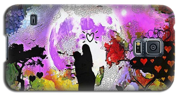 Galaxy S5 Case featuring the painting Love Family And Friendship In The Mix by Catherine Lott
