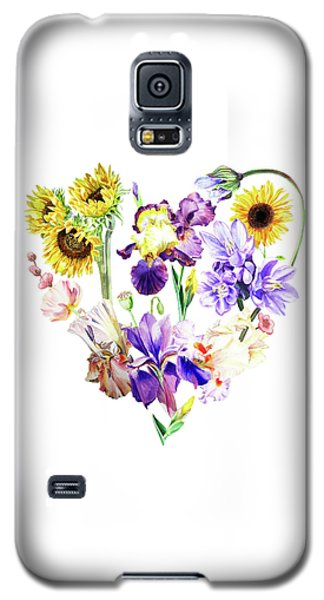Galaxy S5 Case featuring the painting Love Flowers by Irina Sztukowski